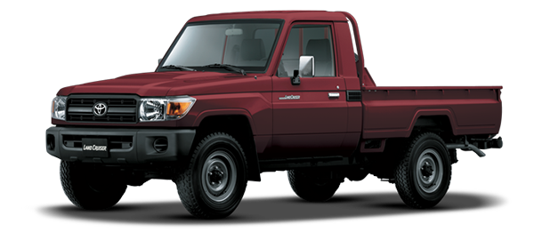 Land Cruiser Pick Up Rojo Oscuro Metálico